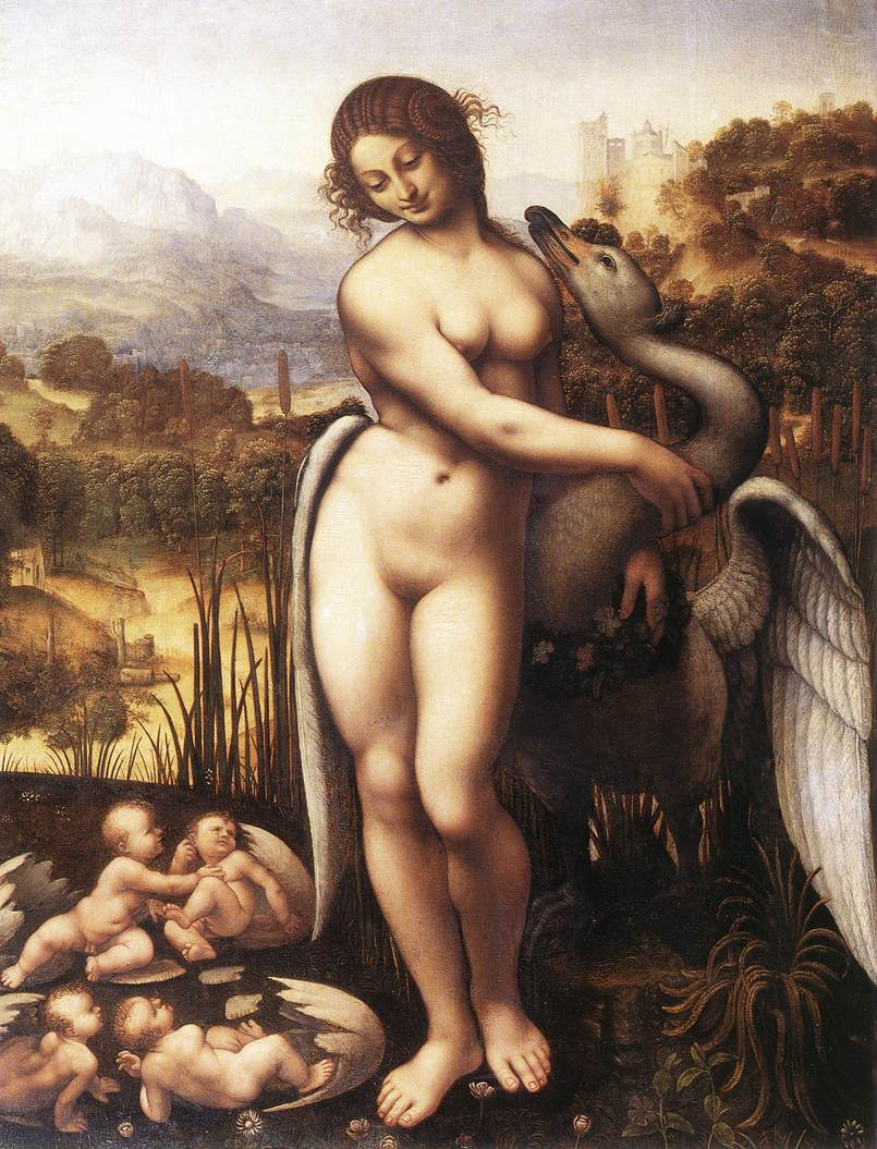 """Leda and the Swan"" Leonardo da Vinci (1452–1519)"